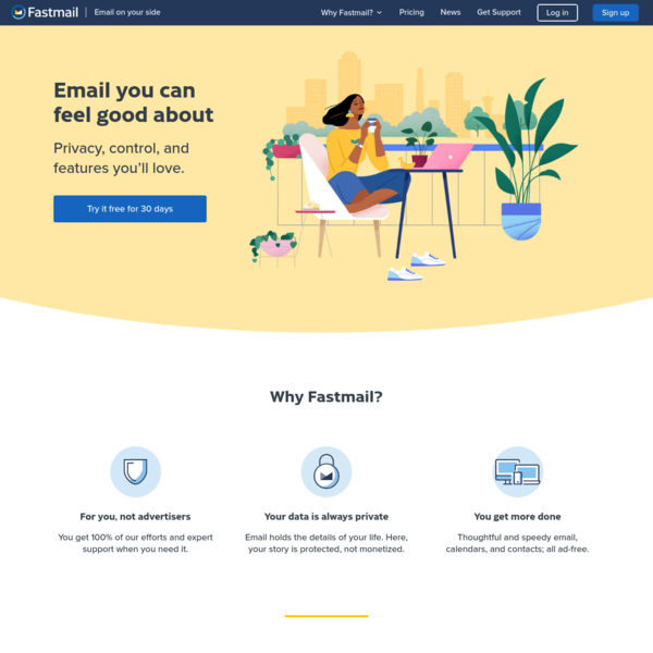 Fastmail: email on your side