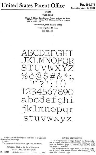 Franz Halm Typewriter Typeface