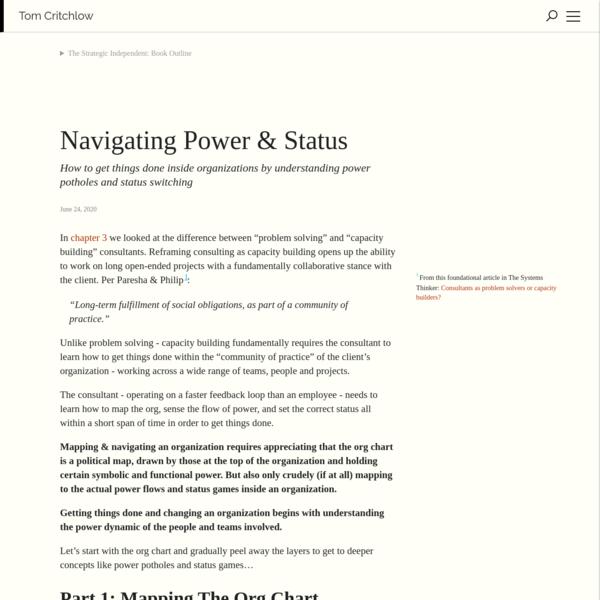 Navigating Power & Status