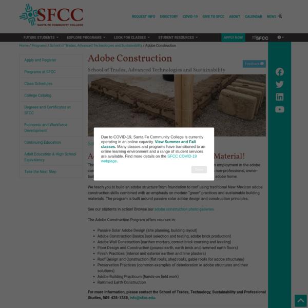 Adobe Construction – Santa Fe Community College