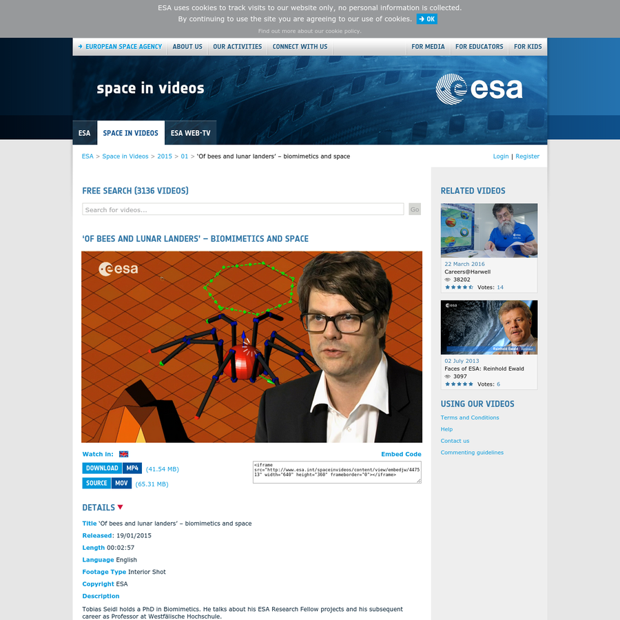 The European Space Agency portal features the latest news in space exploration, human spaceflight, launchers, telecommunications, navigation, monitoring and space science.