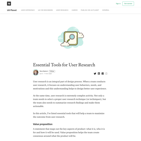Essential Tools for User Research