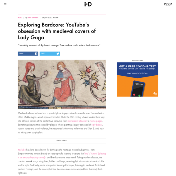 Exploring Bardcore: YouTube's obsession with medieval covers of Lady Gaga