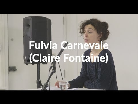 Fulvia Carnevale of Paris-based artist collective Claire Fontaine opens the 'Don't Think You Have Any Rights: The Challenges of Italian Feminisms' talks for the Now You Can Go seminar, running Saturday December 12.