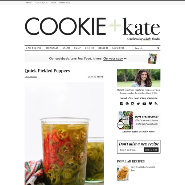 Quick Pickled Peppers Recipe - Cookie and Kate