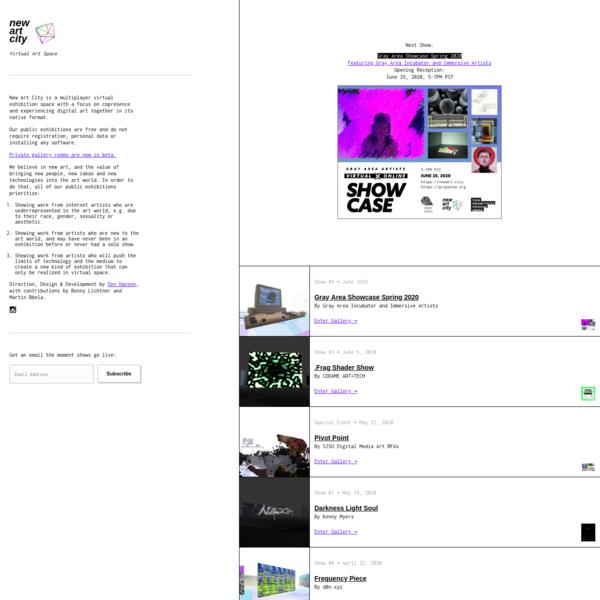New Art City - Virtual Gallery
