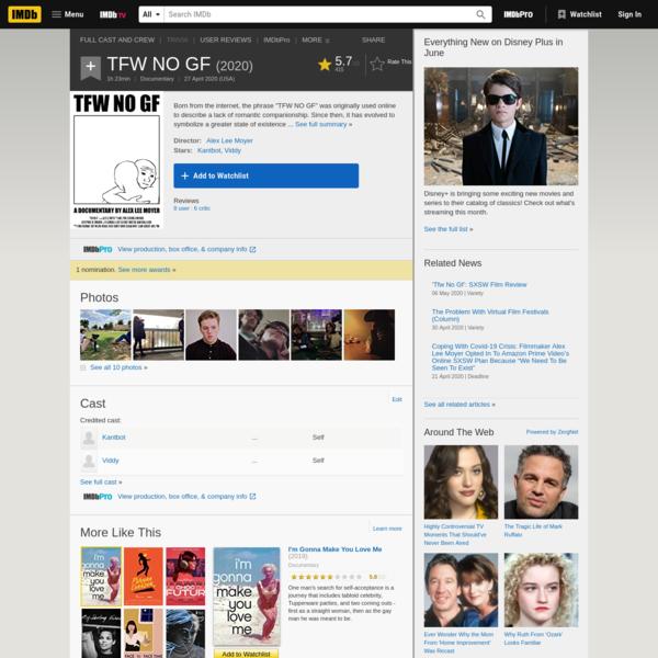 TFW NO GF (2020) - IMDb