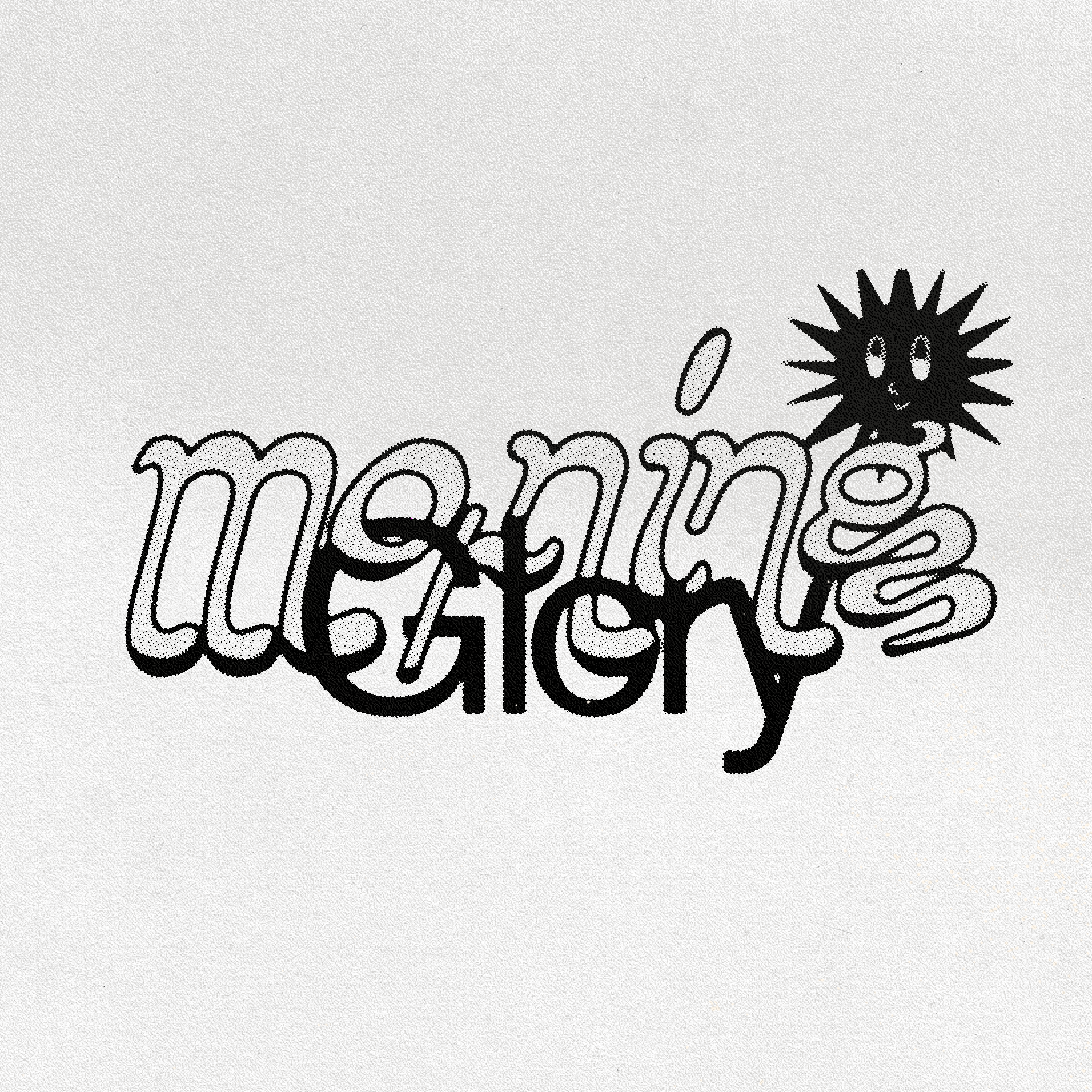 """Morning Glory"" lettering"