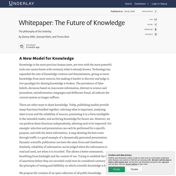Whitepaper: The Future of Knowledge · Underlay