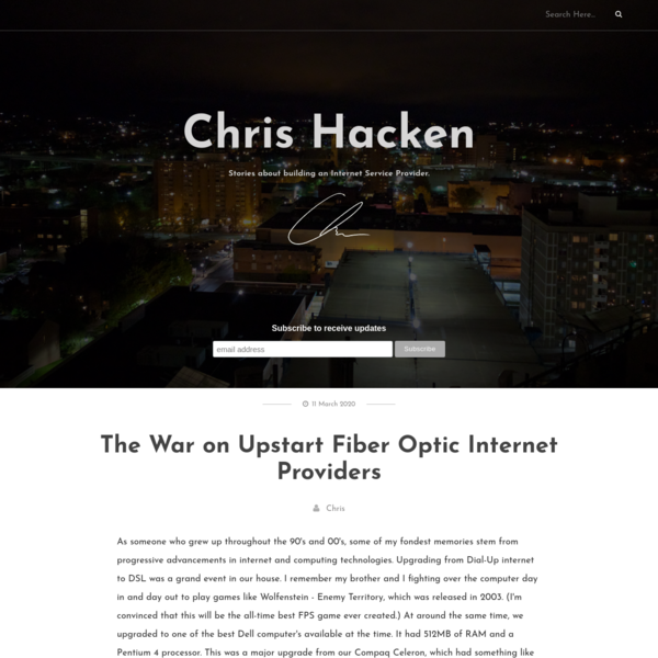The War on Upstart Fiber Optic Internet Providers