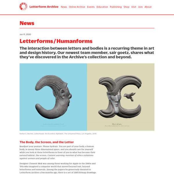 Letterforms / Humanforms