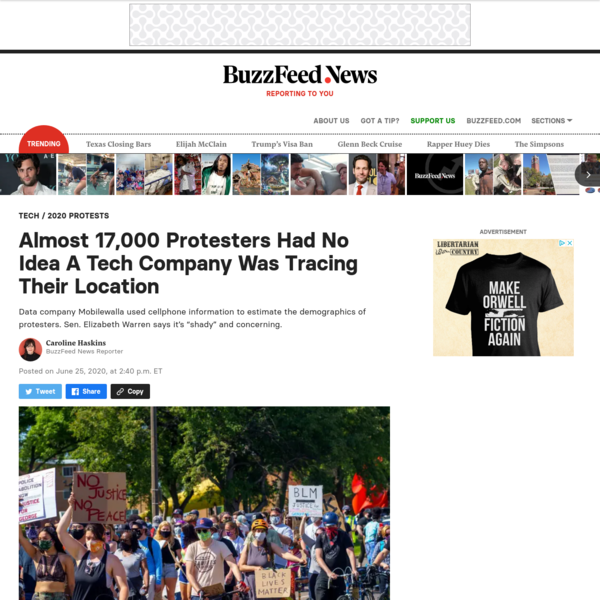 Almost 17,000 Protesters Had No Idea A Tech Company Was Tracing Their Location
