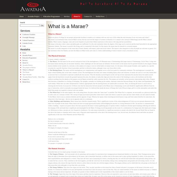 What is a Marae?