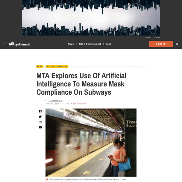 MTA Explores Use Of Artificial Intelligence To Measure Mask Compliance On Subways