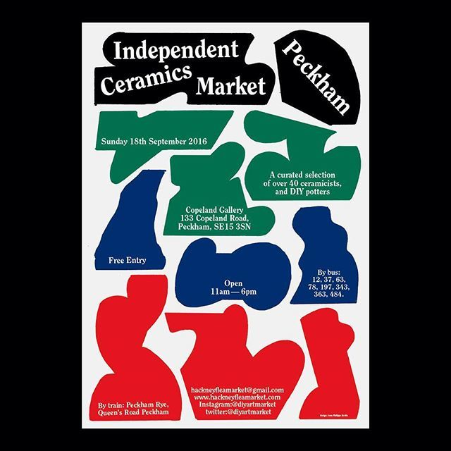 Poster for the Independent Ceramics Market in London, september 2016 #poster #ceramics