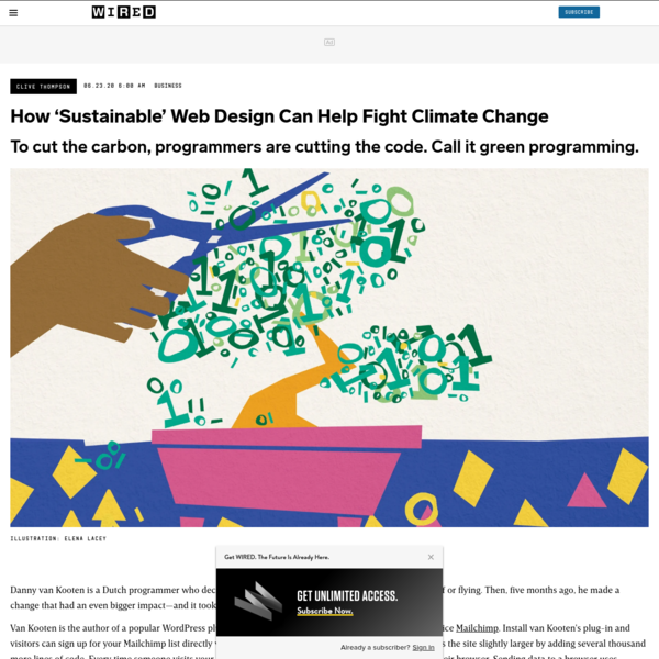 How 'Sustainable' Web Design Can Help Fight Climate Change