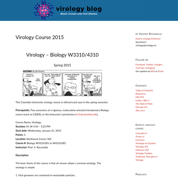 Virology Course 2015