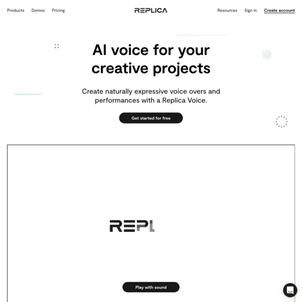 Synthesize Voice AI and Natural Sounding Text-to-Speech - Replica