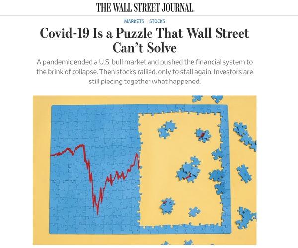 Covid-19 Is a Puzzle That Wall Street Can't Solve