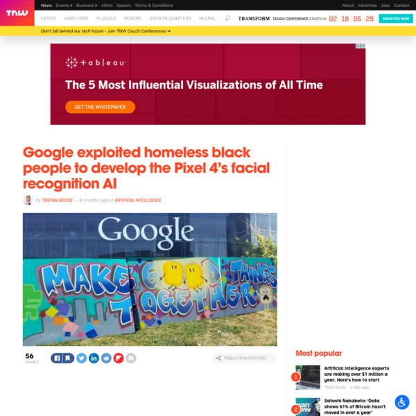 Google exploited homeless black people to develop the Pixel 4's facial recognition AI