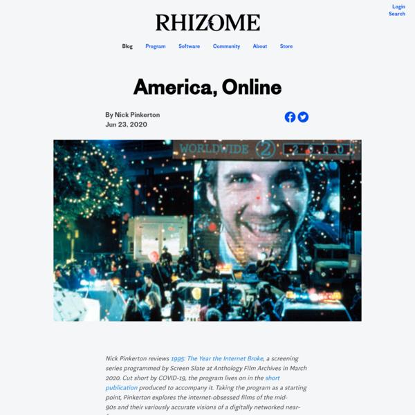 America, Online | Rhizome