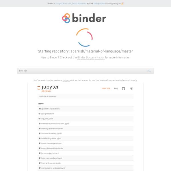 GitHub: aparrish/material-of-language/master