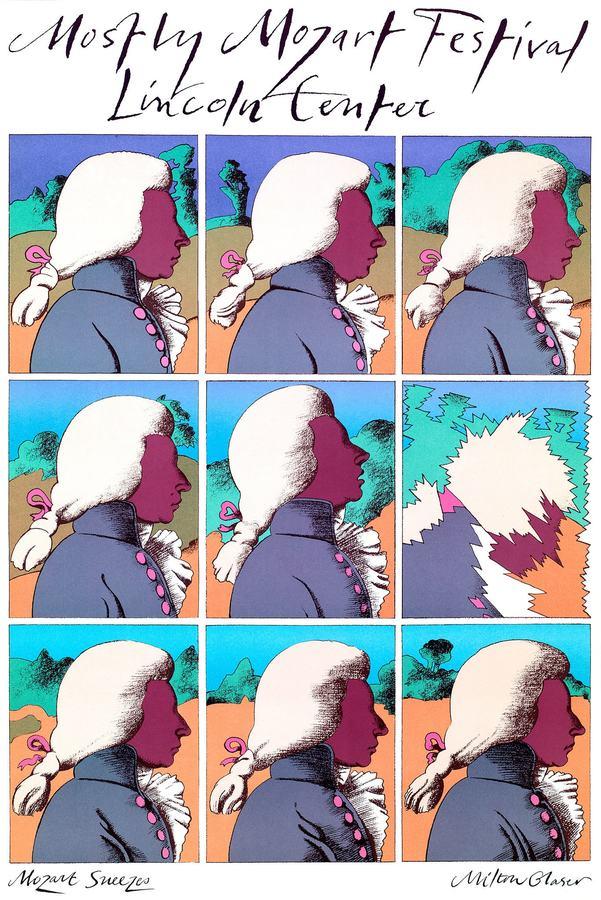 Mozart Sneezes (1983), Milton Glaser