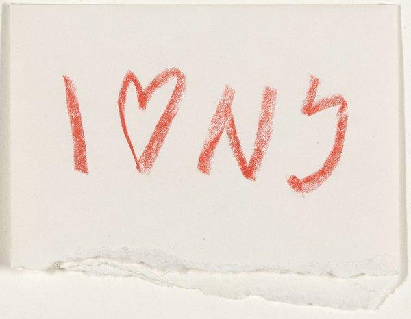 I ❤️ NY Concept Sketch (1976), Milton Glaser