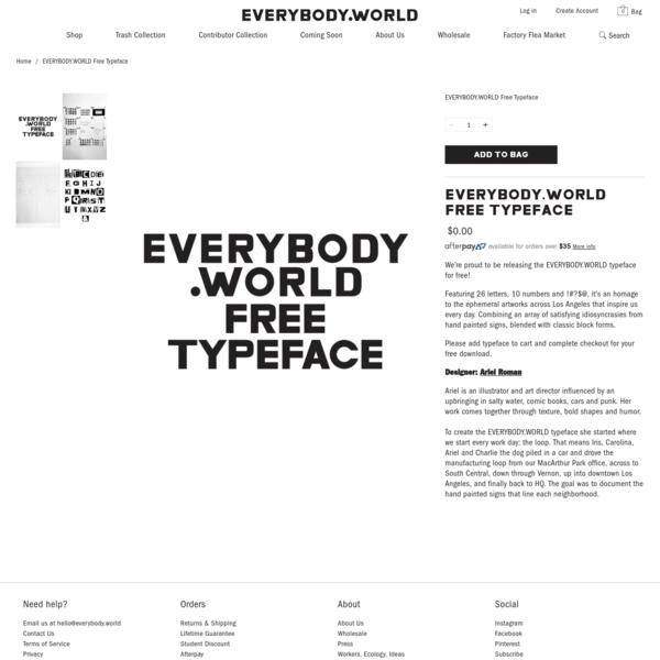 EVERYBODY.WORLD Free Typeface