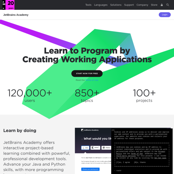 JetBrains Academy: A hands-on platform for learning to program