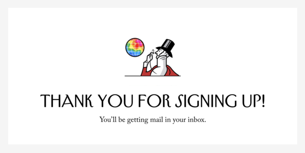 NY'er Email Newsletter signup page