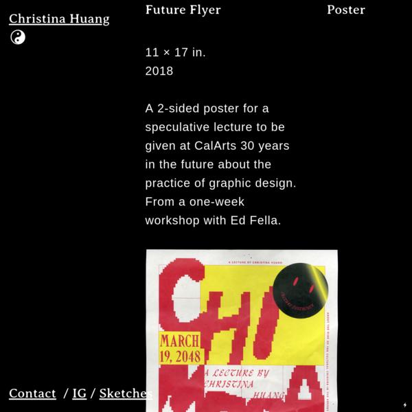 Poster Future Flyer - christina huang