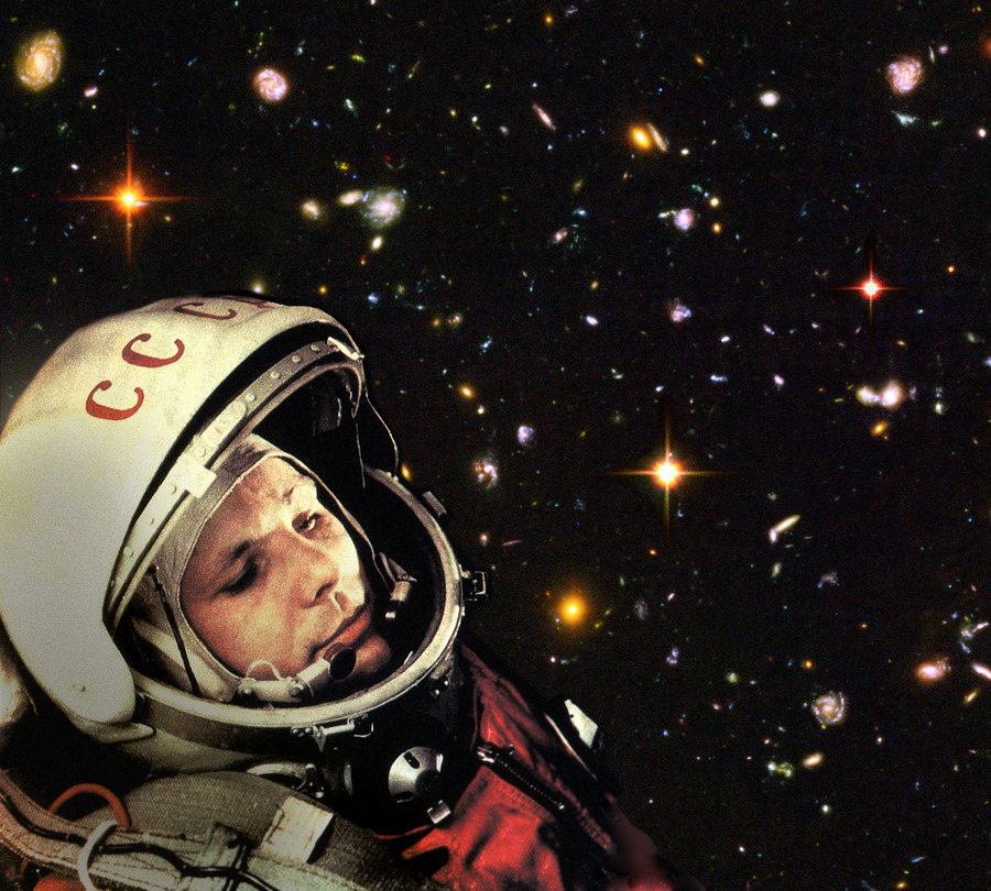 Yuri Gagarin Training For His Flight
