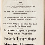 Gravure & fonderie typographiques de Maurice Ollière & Cie. Successeurs de Lespinasse & Ollière. [Marque] Paris, 25. rue Jul...