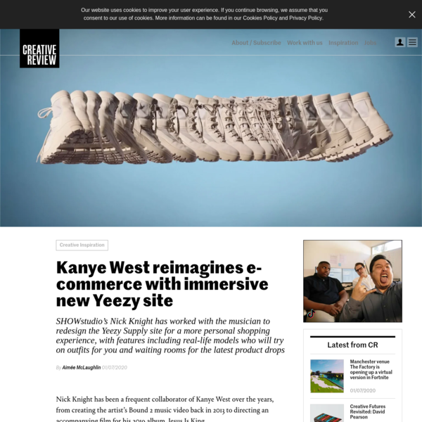 Kanye West reimagines e-commerce with immersive new Yeezy site