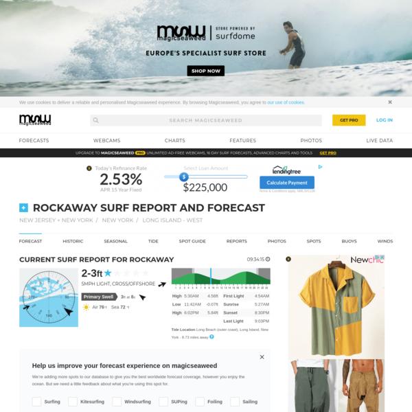 Rockaway Surf Report, Surf Forecast and Live Surf Webcams