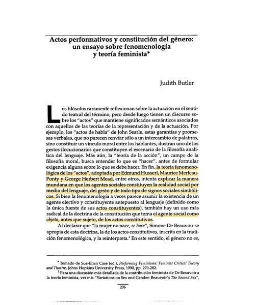 Judith Butler_actos performativos y constitución del género