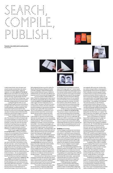 Search, compile, publish / towards a new artist's web-to-print practice