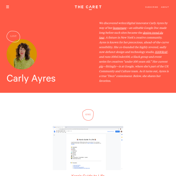 Carly Ayres - List | The Caret