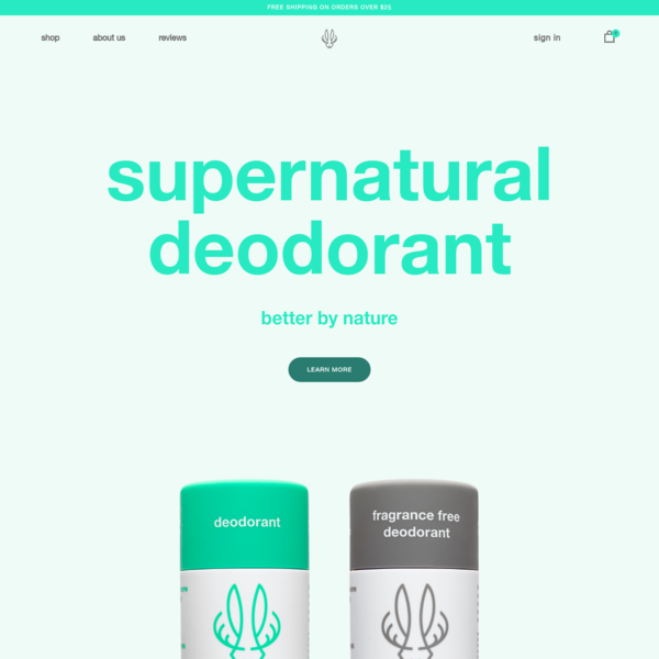 Hume Supernatural - All Natural Deodorant That Works!