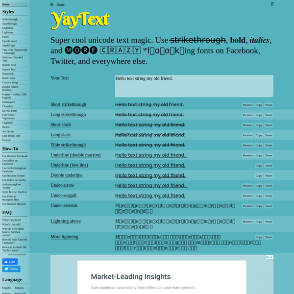 YayText: A text styling tool for Facebook, Twitter, etc.