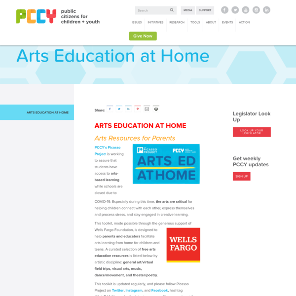 Arts Education at Home - Public Citizens For Children and Youth