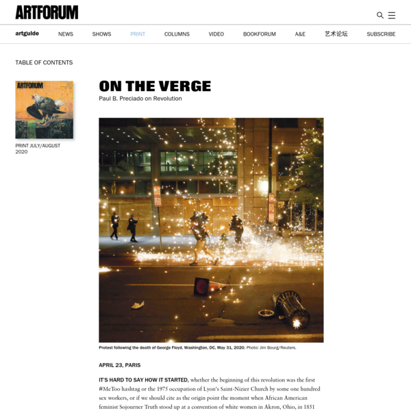 Paul B. Preciado on Revolution - Artforum International