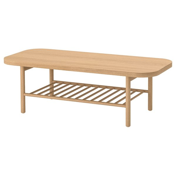 "LISTERBY Coffee table, white stained oak, 55 1/8x23 5/8"" - IKEA"