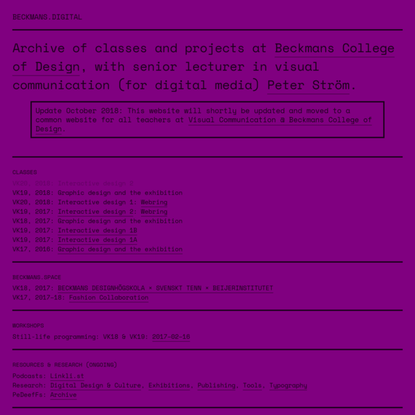 Beckmans.digital