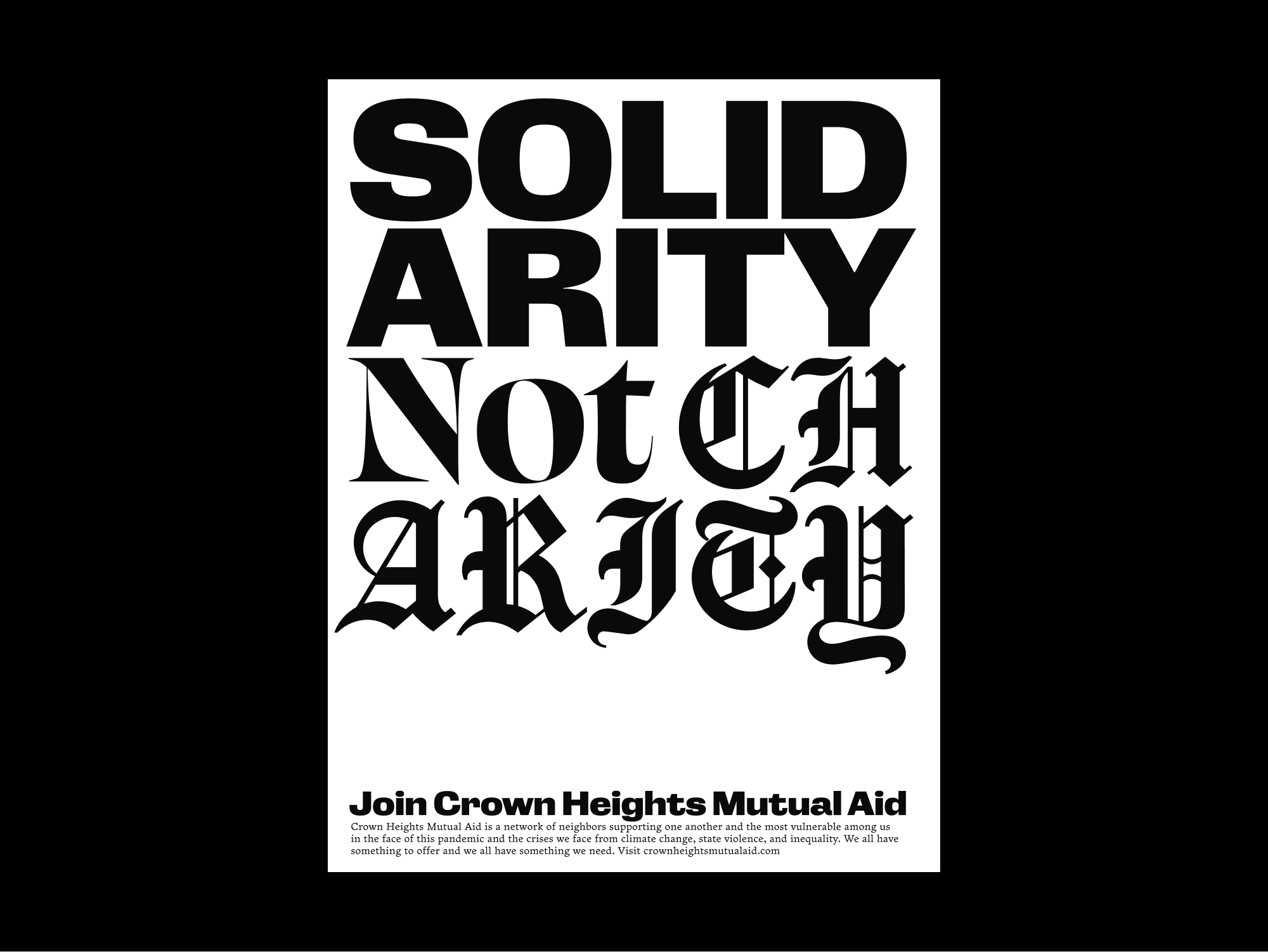 """""""Solidarity"""" poster for Crown Heights Mutual Aid"""