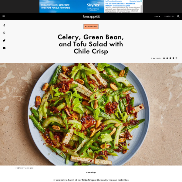 Celery, Green Bean, and Tofu Salad with Chile Crisp Recipe