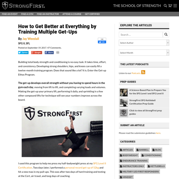 How to Get Better at Everything by Training Multiple Get-Ups | StrongFirst