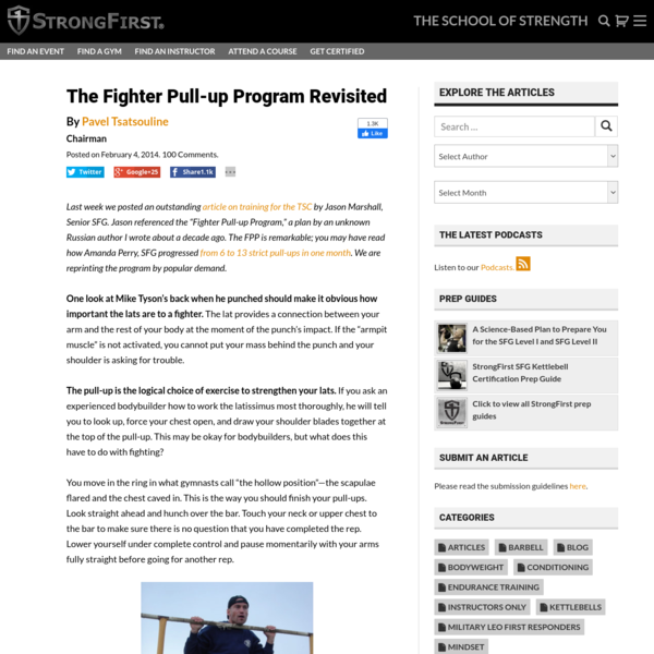 The Fighter Pull-up Program Revisited | StrongFirst