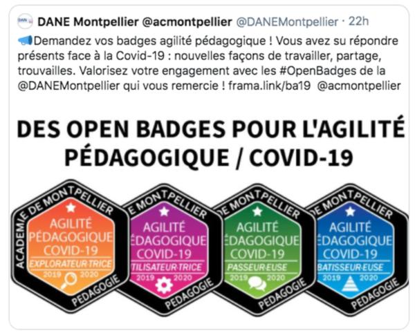open badges pour l'agilité pédagogique/Covid19